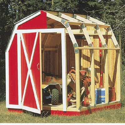27 best shed images on pinterest wood firewood storage and bricolage fast barn framing kit 70 you use straight cut 2 x 4s throughout solutioingenieria Images