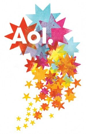 Alan Kitching AOL logo for Wolff Olins