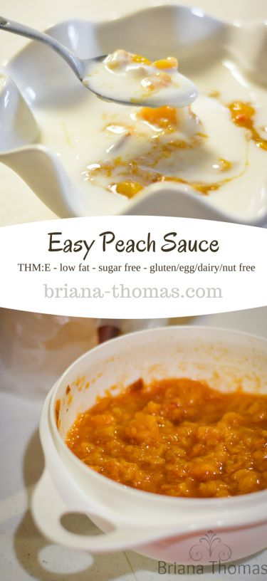 Easy Peach Sauce (and homemade yogurt)...THM:E, low fat, sugar free, gluten/peanut/dairy/egg free...and a description of my strange eating habits while I'm living in a basement in Holmes County for the summer.