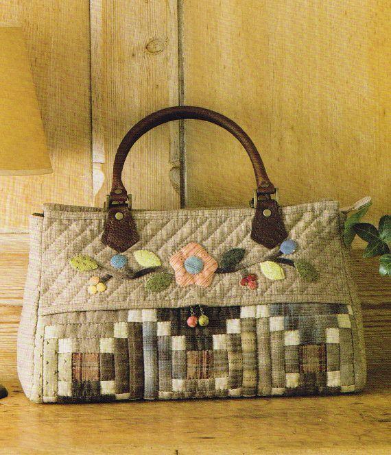 No.41 PDF padrão de como a costurar Block House mulheres bolsa bolsa bolsa bolsa de moedas colcha applique handmade patchwork de costura