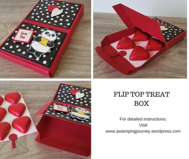 A last minute Valentine treat box using the Lots to Love Box Framelits.  Use it for any occasion.  Add a Gift card in as an alternative. Decorated for the occasion of course with the Party Pandas set.