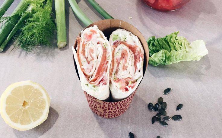 La recette du wrap healthy au saumon du Chef Fanton