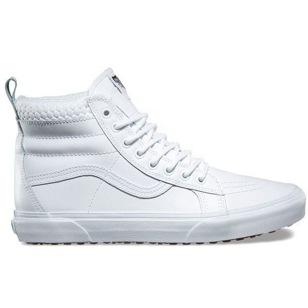Vans SK8-Hi MTE ($90) ❤ liked on Polyvore featuring men's fashion, men's shoes, men's sneakers, white, mens white high top shoes, mens high top shoes, mens white high top sneakers, vans mens shoes and mens high top sneakers