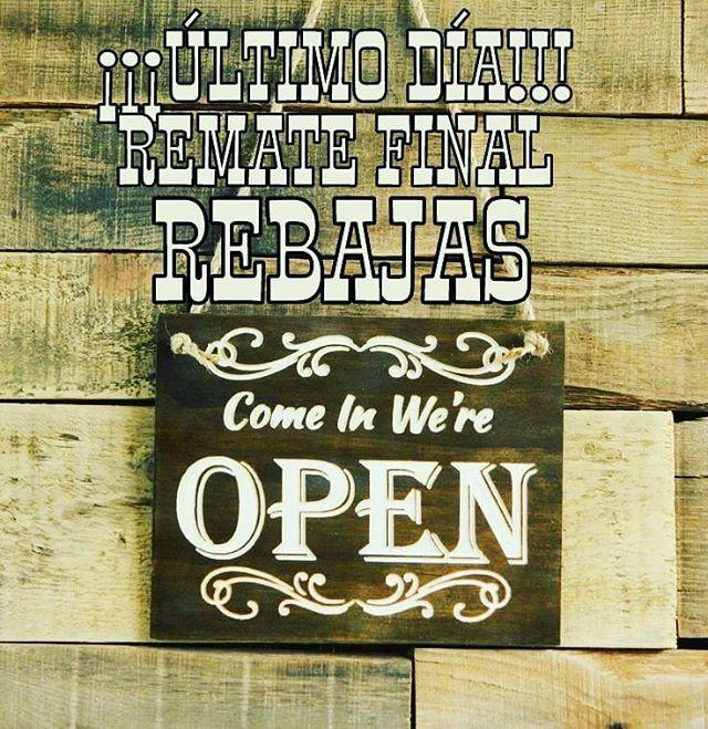 HOY abrímos hasta las 21 horas!!! ÚLTIMO DÍA de nuestro REMATE FINAL de REBAJAS!!! CHAQUETAS y SUDADERAS A MITAD DE PRECIO!!! Camisetas y gorras al 21!!! Calle Córdoba 6 Málaga centro