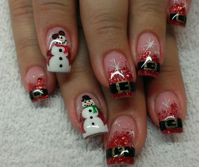 17 Best Ideas About Holiday Acrylic Nails On Pinterest