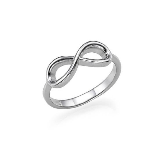 "The perfect piece to commemorate your wedding day or a special date, this beautiful infinity ring symbolises never ending bonds of love made from 0.925 solid Sterling Silver. It would make the ideal wedding gift for a friend or loved one. Width: 2mm / 0.08"" Thickness: 1.5mm / 0.06"" Height of letters: 2mm / 0.08"". All of the Anna Lou of London personalised jewellery is handmade to order so please be aware that delivery times can be up to 2 weeks. Please email sales@annalouoflondon.com if with…"