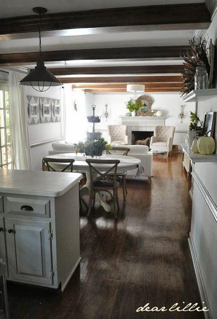 Best 25 long living rooms ideas on pinterest living - Small open concept kitchen living room ...