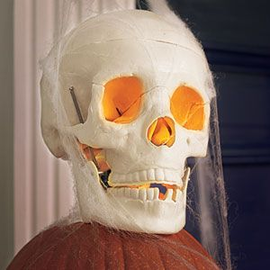 Add a flickering skull to a stack of pumpkins in less time than it takes to fill a candy bowl. | Photo: Julian Wass | thisoldhouse.com