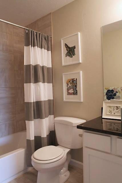 Uma cortina de banheiro fica mais elegante que o box