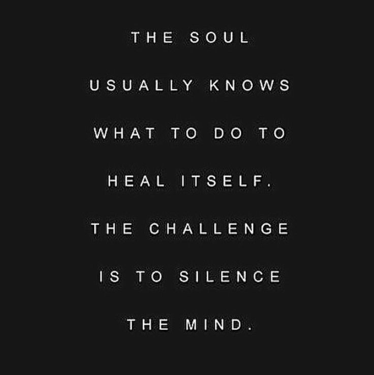 The soul usually knows what to do to heal itself... (Fitness Journal Quotes)