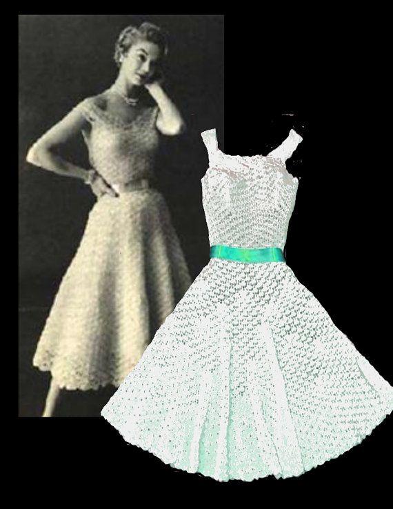 Sale Crochet DRESS Pattern digital download by WeddingsBabiesHome