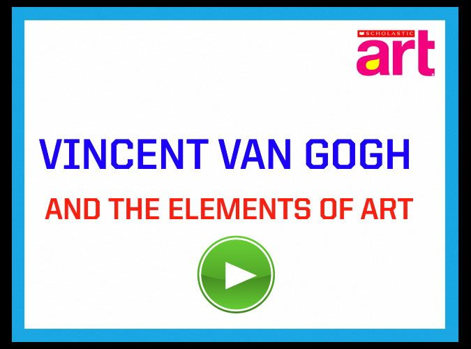 This quick video defines and explains the elements of art visually and verbally using artworks by Van Gogh for examples.