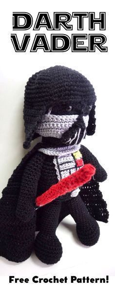 Darth Vader amigurumi, Darth Vader crochet, Darth Vader crochet pattern, Darth Vader free crochet pattern, Star Wars amigurumi, Star Wars crochet, Star Wars crochet pattern, Star Wars free crochet pattern, Darth Vader crochet toy, Star Wars crochet toy, Darth Vader amigurumi doll, Star Wars amigurumi doll
