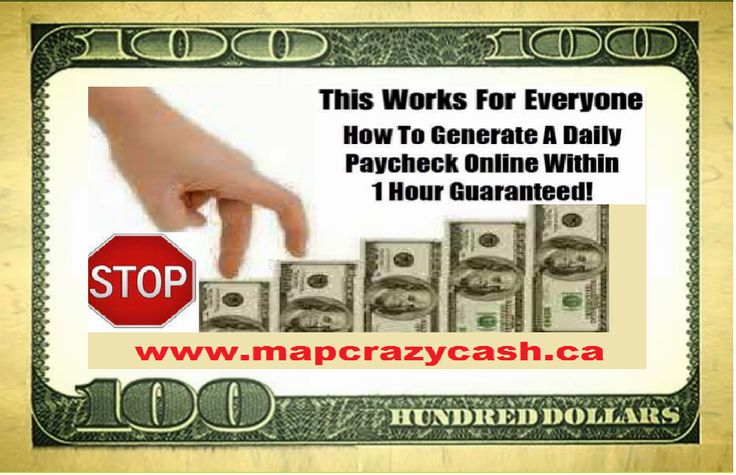 Make money every 20 mins. 72 times DAILY... No selling or Sponsoring Required. 100% Guaranteed. www.mapcrazycash.ca