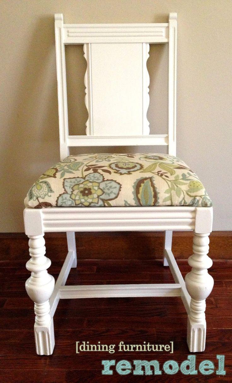 best 25 dining chair redo ideas on pinterest reupholster dining chair dining chair makeover. Black Bedroom Furniture Sets. Home Design Ideas