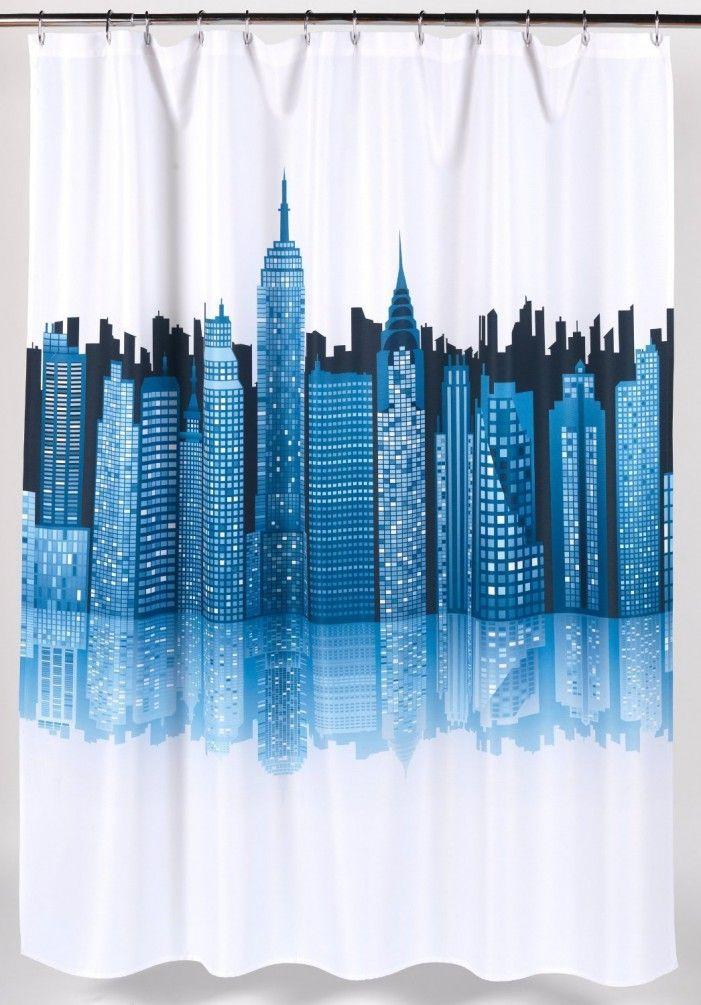 18 Best Skyline Shower Curtain Images On Pinterest
