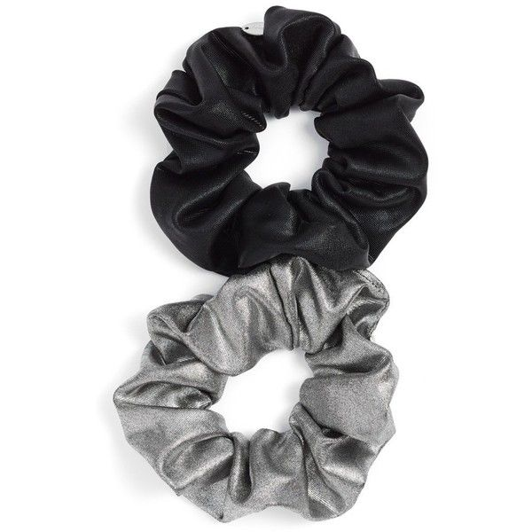 Women's Berry Metallic Scrunchie ($15) ❤ liked on Polyvore featuring accessories, hair accessories, hair, scrunchie, fillers and scrunchie hair accessories