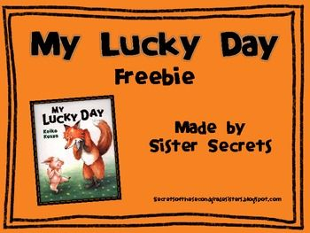 My Lucky Day Reading And Writing My Lucky Day