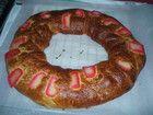 Roscón de reyes con fruta escarchada (Thermomix 31)