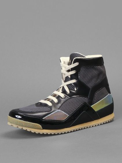 Maison Martin Margiela high-top sneakers with fluo inserts @Maison Martin Margiela #maisonmartinmargiela #maisonmargiela #martinmargiela