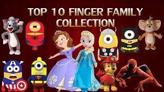Top 10 Super Heroes & Frozen Sofia Finger Family Nursery Rhymes Collection For Children