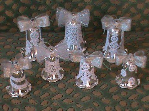 DIY/МК Как сделать новогодние колокольчики в стиле канзаши