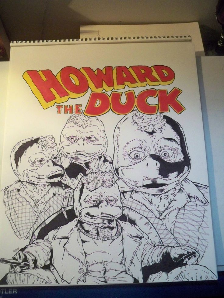 finally done my Howard The Duck piece. Done on a piece of 14'x17' art paper. Inked with microns and the colors are prisma markers.I tend to stay away from doing lettering and colors but i wanted to try my hand out seeing this was a fun piece to do.  Asking $100 for this one.