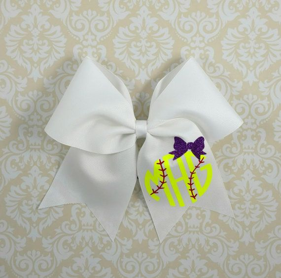 www.thatsparkleshop.com Softball hairbow