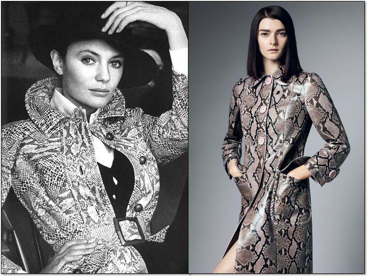 Слева: Vogue. 1969 г. Модель: Жаклин Биссет (Jacqueline Bisset). Фотограф: Берт Штерн (Bert Stern). Справа: Amica. Иьалия. Июнь 2014г. Модель: Женя Севастьянова (Zenia Sevastyanova). Фотограф: Джон Эйкхёрст (John Akehurst). #fashion #fashioninspiration #style #60s #1960s #SperanzaFirsace