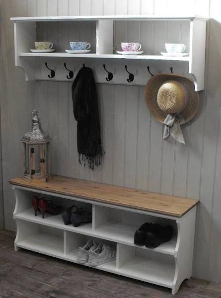 Coat And Shoe Rack Combo Hallway Hall Bench With Storage Entryway