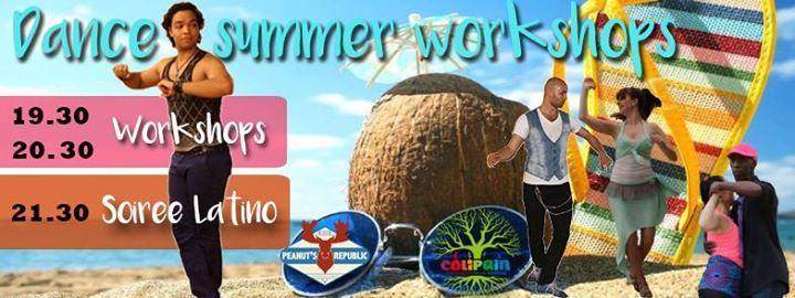 ★ De supers workshops organisés par Colipain suivi d'une soirée latino gratuite au Peanuts ★  --------------------------------------------------------------- WORKSHOPS (8€/h) (Programmation en cours)  19h30 ♧ Salsa : Initiation → Sandrine & Dom ★ Bachata moderna : débutant 1 → Volkan  20h30 ♧ Bachata : Initiation → Sandrine & Dom ★ Salsa L.A.
