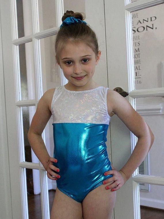 Girls Gymnastics Leotard and Scrunchie 2t 3t by SweetHomeBoutique
