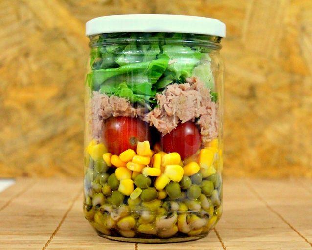 Salada no pote, marmita saudável