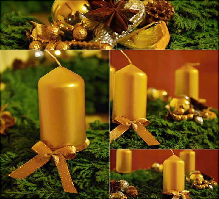 Advent wreath - Gold