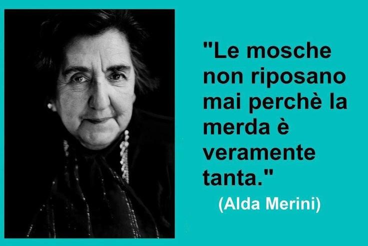 """(Les mouches ne se reposent jamais car il y énormément de merde.  Flies never rest because there is a lot of shit around.""""  (Alda Merini)"""