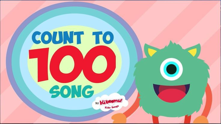 Count to 100 Song for Kindergarten.  A FUN way to practice counting numbers 1-100!  #kidsmusic #kindergarten