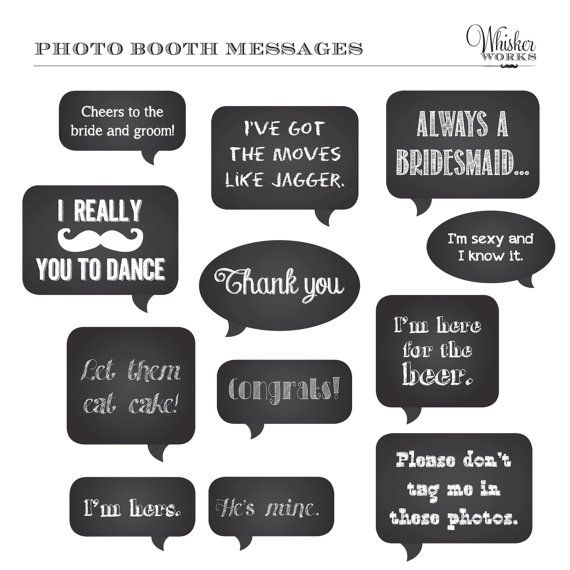Birthday Photo Booth PropsSpeech Bubbles PropsFunny photo |Printable Photo Booth Sayings