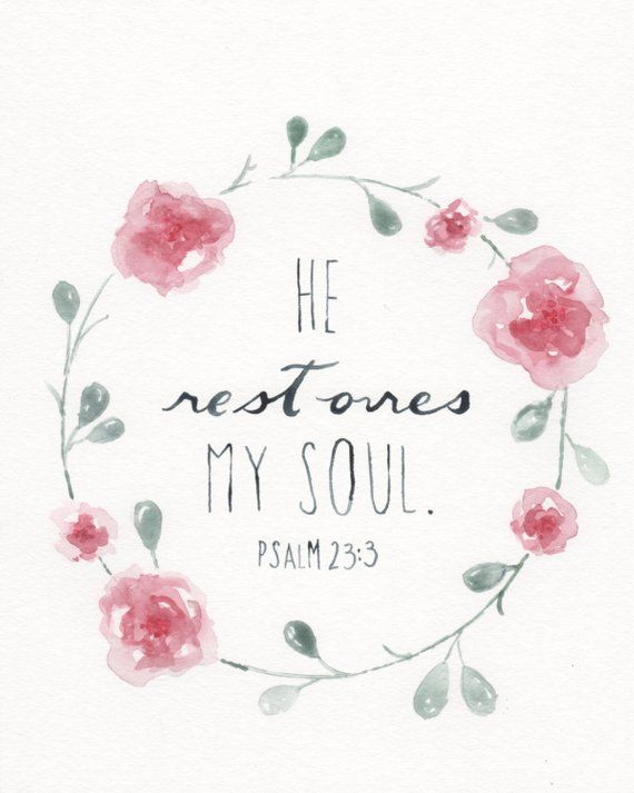 Scripture Painting Watercolor Flower Painting Bible Verse Bible