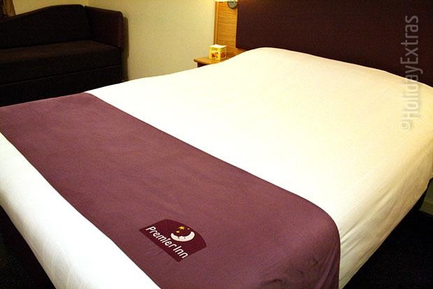 The Hypnos mattresses at the Premier Inn A23 Airport Way will be even more comfortable than your own
