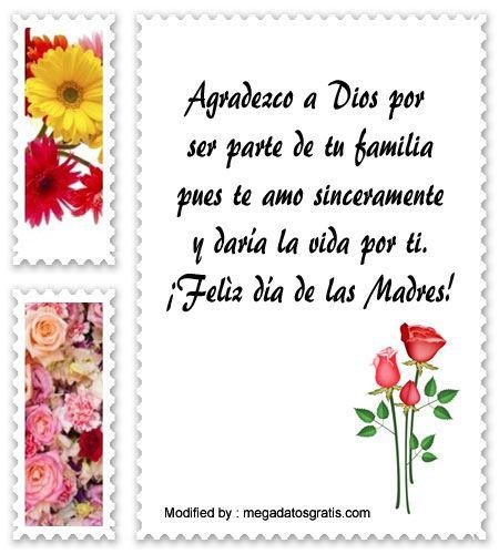 palabras para el dia de la Madre,saludos para el dia de la Madre: http://www.megadatosgratis.com/lindos-mensajes-cristianos-para-el-dia-de-la-madre/