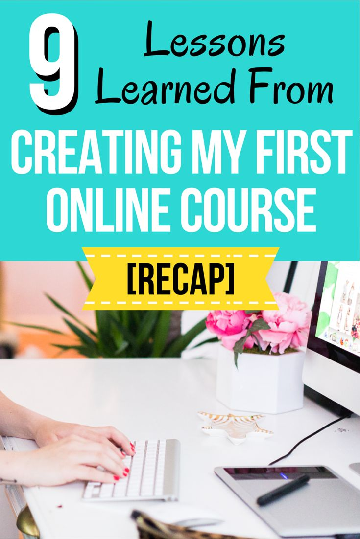 9 Lessons I Learned From Creating My First Online Course   Click through to get a behind the scenes look at my first online course launch, and the exact strategies I used to achieve a 5K launch.