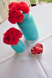 Resultado de imagem para casamento vermelho e turquesa