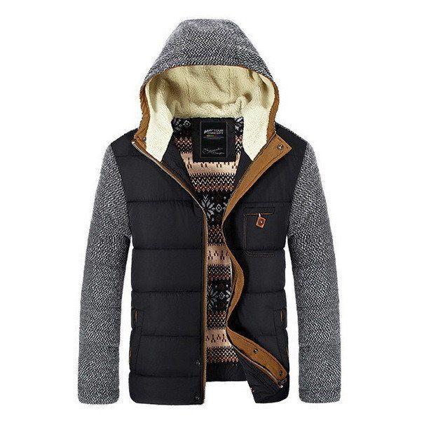 Urban Contrast Hooded Parka Jacket