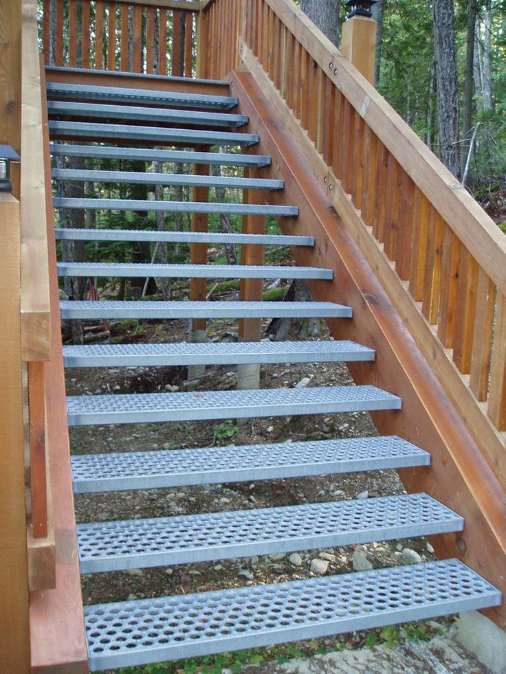 MEATAL STAIR | ... slip, non shovel, galvinized steel stair tread. « Iron Mountain Works