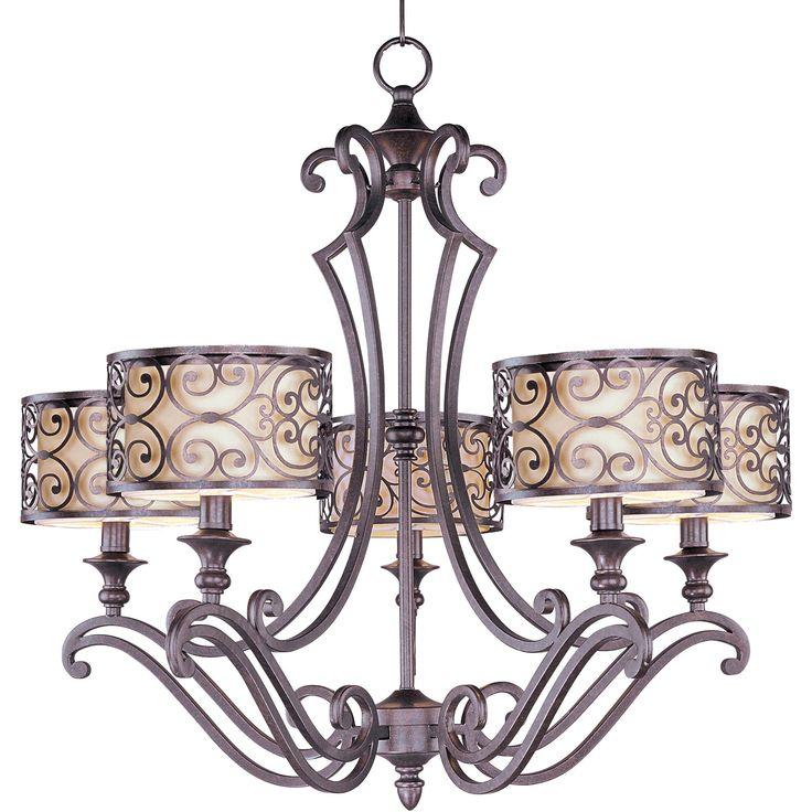 Maxim Lighting International Mondrian Umber Bronze Five Light Chandelier On SALE