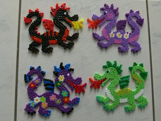 Dragons hama beads Bügelperlen by brandi040