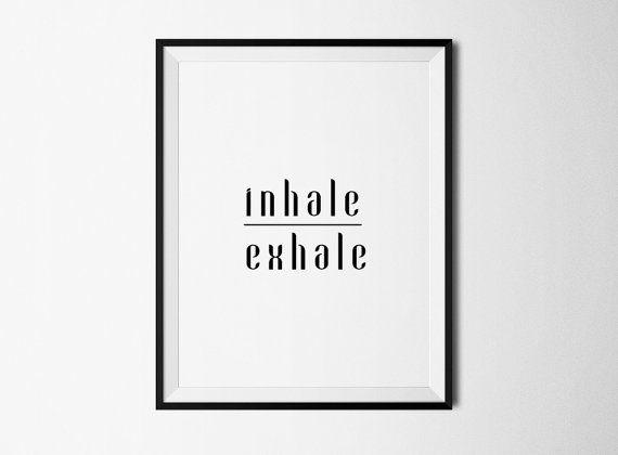 Yoga breathe print yoga poster yoga printable by ColourMoon -- for home office