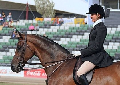 """Rebecca Farrow - Show - Australia - """"With the CAIR® Cushion System and the EASY-CHANGE® Fit Solution, it means the saddle is flexible and fully adjustable to suit my horses. This superior comfort for both horse and rider means optimum results for getting the most out of my horse, whilst still factoring in the aesthetic element required in the show ring. There has been great consideration to the final finish of the Show saddle, with leather covered buttons..."""""""
