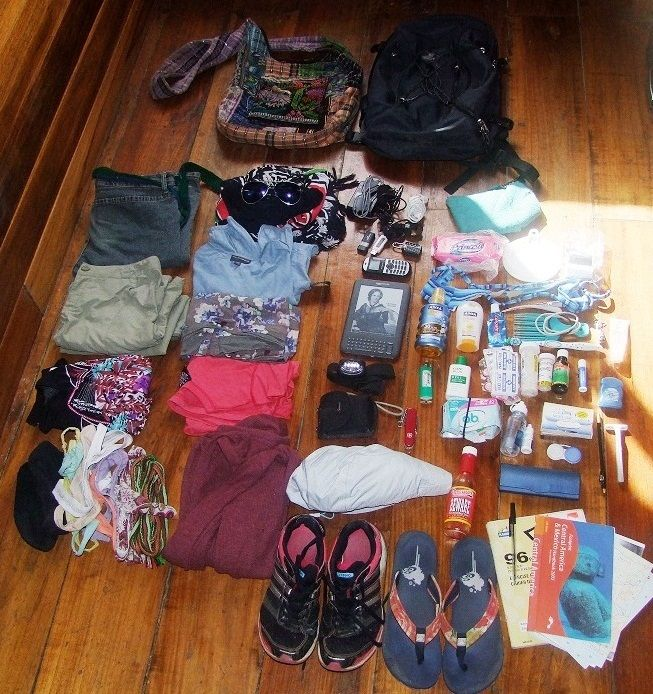 Central America Ultra Minimalist Travel Packing List