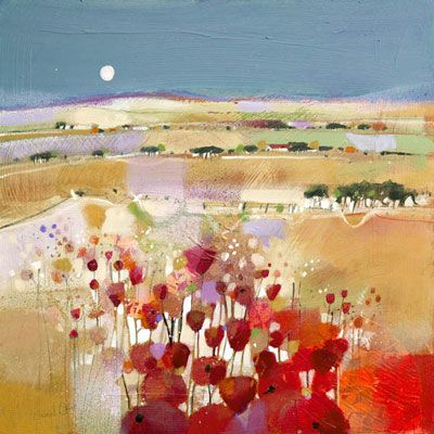 Moonlight and Poppyfield (Limited Edition print) by Emma Davis